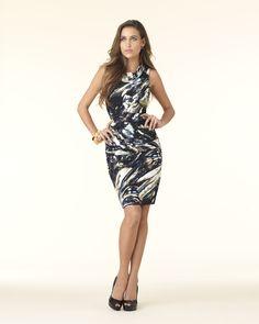 Brushstroke-Print Mini Dress
