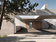 Located near Lucerne in Switzerland, this is 'House H' by Buchner Bründler architects in Basel