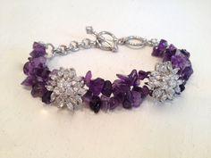 Genuine Amethyst and Marquise Multi Strand by WOWTHATSBEAUTIFUL