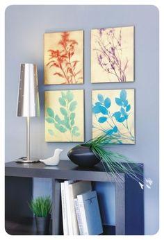 cuadros decorativos con plantas
