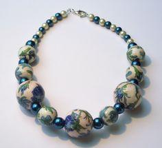 Blue Rose I Decoupage von for you bijoux auf DaWanda.com