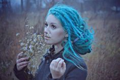 Turquoise dreads
