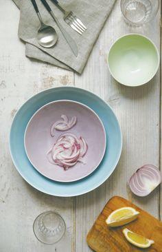 Dune Porcelain tableware range by Kinto Atelier Tete #pastel #colors