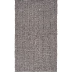 Hand-woven Casual Solid Grey Dues Wool Rug (5' x 8')