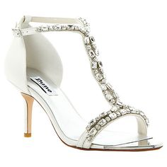 Buy Dune Happiness Jewelled Sandals, Ivory Online at johnlewis.com