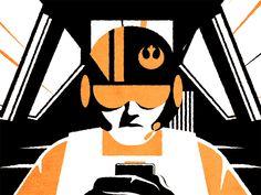 The Force Awakens GIF Poe Dameron + Kylo Ren