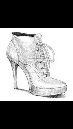 Drawings of shoes- I love my high heels.