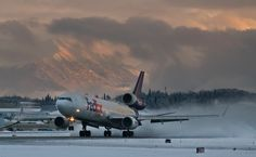 FedEx MD11 taking off out of Anchorage