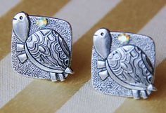 Turtle Cuff Links  Rhinestone Cufflinks  Animal by CleopatraNYC, $49.00