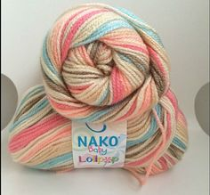 Baby yarn acrylic yarn multicolor yarn  soft  Each by Yarnshopping