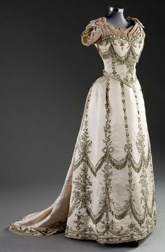 afternoon dresses 1890 | Late 1890's? Evening Dress