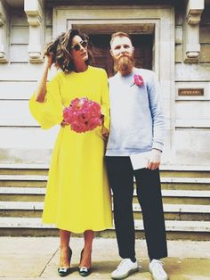 yellow dress to a edding list