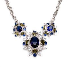 Gorgeous knockout! The Gwendolyn necklace by Krystalin packs a punch with sparkling CZ's and crystals. Only $168 at https://candydiva.kitsylane.com/index.php?file=product_detail&pId=4063