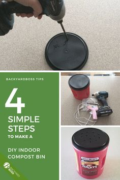Do you love gardening? Making your own organic compost can really help your gardening game-- whether it's fruits, veggies, flowers, or anything. This is a small indoor bin DIY project that's simple to make.