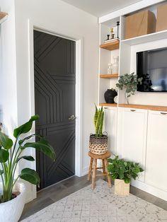 Diy Barn Door, Diy Door, Barn Doors, Apartment Therapy, Door Makeover, Door Design, Modern Barn, New Homes, House