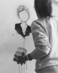 Me, myself & I   #ingridvdkamp #portraits Weird Art, Figure Painting, Artist At Work, Thats Not My, Mixed Media, Portraits, Paintings, Illustrations, Create