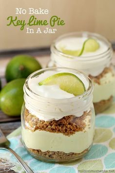 No Bake Key Lime Pie In A Jar {12 Bloggers} - A Million Moments #12bloggers