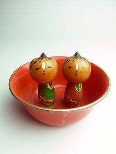 Japanese vintage Kokeshi dolls