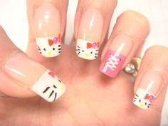 Hello Kitty Nail Designs For Long Nails - Simple Nail Design Ideas
