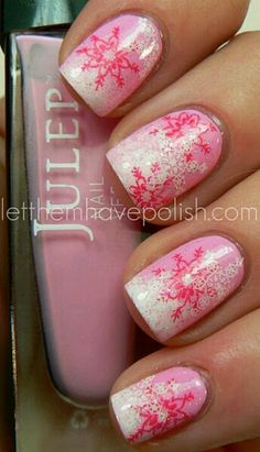 Girlie holiday nails