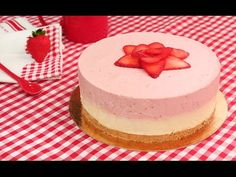 Tarta de Fresas y Chocolate Blanco sin Horno! - YouTube