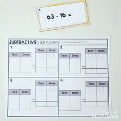 2 Digit Subtraction Regrouping Worksheets Help your students understand the why when it comes to regrouping with subtraction. These 2 Digit Subtraction Regrouping Worksheets are great practice when learning the subtraction algorithm. Basic Math Worksheets, Subtraction With Regrouping Worksheets, Subtraction Activities, Printable Math Worksheets, Math Resources, Math Activities, Subtracting With Regrouping, Area And Perimeter Worksheets, Third Grade Math
