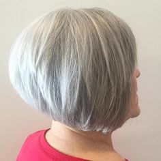 Salt And Pepper Layered Bob