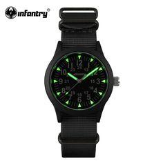 INFANTRY Mens Watches Luminous Hattori Japan Quartz Watch Relojes Nylon Watches G10 Heavy Nylon Military Army 30M Waterproof #Affiliate