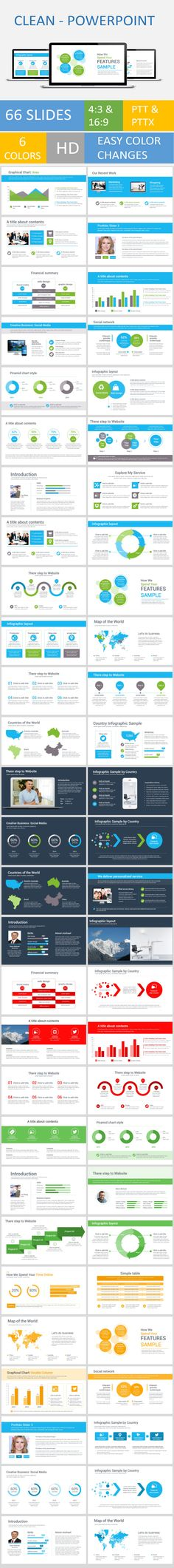 Clean-Powerpoint template (Powerpoint Templates) Image 20Preview 20