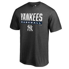 b0fa8c8f89a Men's New York Yankees Fanatics Branded Heathered Charcoal Win Stripe  T-Shirt