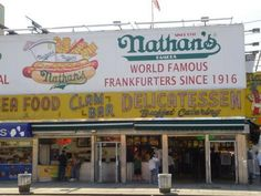 Coney Island...we ate here.....my husband drove from new york city just to ear a hotdog on the board walk