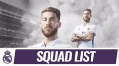 Sergio Ramos Our 20-man squad for the Clásico!