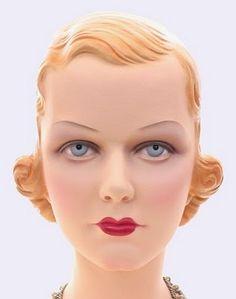 Vintage blond mannequin.
