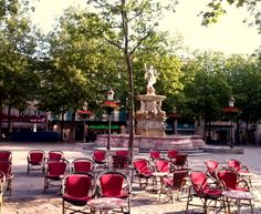 Early morning at Place Carnot #Carcassonne #France