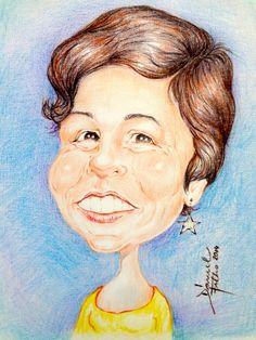 """My Wife ''Néia"""" , homenagem a seu aniversário de 10/03/2014 - técnica lápis de cor aquarelavel  sobre papel tela     -      by     Daniel Filho"""