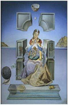 Salvador Dali The Madonna of Port Lligat Surreal Art Poster 11x17