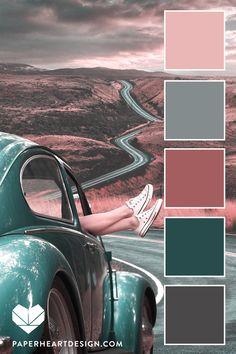Color Schemes Colour Palettes, Colour Pallete, Color Combos, Green Color Schemes, Vintage Colour Palette, Vintage Colors, Vintage Vibes, Vintage Color Schemes, Pink Palette