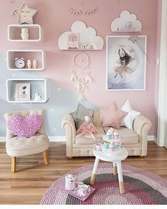New baby girl room paint ideas Baby Bedroom, Baby Room Decor, Bedroom Decor, 10 Year Old Girls Room, Baby Girl Bedroom Ideas, Kids Bedroom Ideas For Girls Toddler, Ikea Girls Bedroom, Room Baby, Bedroom Small