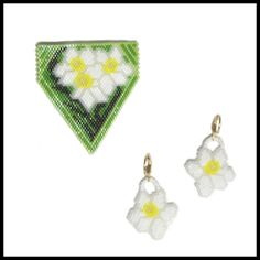 Daffodils for Spring Pendant and Earrings | Bead-Patterns.com