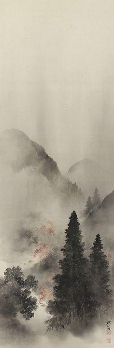 Japanese Fine Art Wall Hanging Painting Autumn by SakuraAntiques