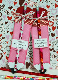 Paper Creations by Kristin: Pencil Valentines