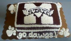 MSU Bulldogs Cake with Buttercream Icing