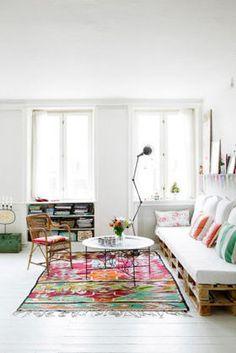 Un sofá con palet | Decorar tu casa es facilisimo.com