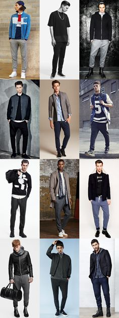 Men's Slimline Joggers and Track Pants Street Wear Outfit Inspiration Lookbook