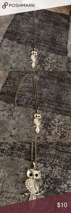 Owl necklace 🔘 Adorable owl necklace. Very long chain Jewelry Necklaces
