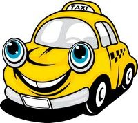 Smiling taxi in Budapest!