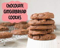 Sweet Twist of Blogging: Soft Chocolate Gingerbread Cookies