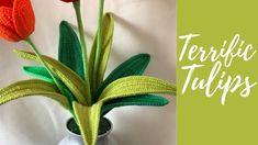 Cómo tejer las hojas de tulipán