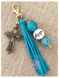 Handmade Keychains, Diy Keychain, Keychain Ideas, Diy Leather Tassel Keychain, Beaded Bookmarks, Diy Tassel, Gold Cross, Duct Tape, Washi Tape