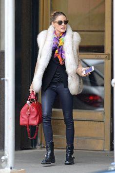 ¡¡Nos encanta el estilo de Olivia Palermo!! Ideal para las bajas temperaturas! #cold #winter #olivia